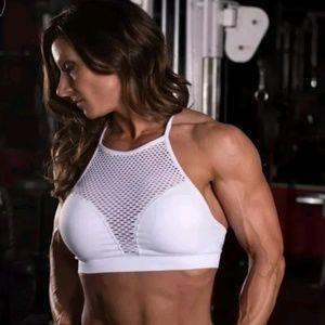 Other - White mesh sports bra